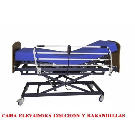 CAMA ELEVADORA MAS COLCHON  COMPLET CLASSIC 90 x 190